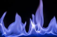 Aangestoken branden feul, brand, vlammen Stock Afbeelding