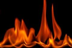 Aangestoken branden feul, brand, vlammen Royalty-vrije Stock Afbeelding