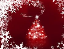 Aangestoken omhoog Kerstboom met vele lensgloed Stock Foto's