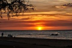 Aangestoken zonsondergang Royalty-vrije Stock Afbeeldingen