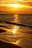 Aangestoken zonsondergang Stock Fotografie