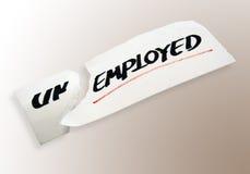 Aangewende niet Werkloos stock fotografie