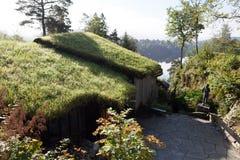 Aangewezen Grieg Op de kust van het meer is gevestigde Nurdos-manor Troldhaugen noorwegen stock afbeeldingen