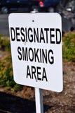 Aangewezen het Roken Gebied stock afbeelding