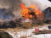 Aangezien de brand overneemt Stock Afbeelding
