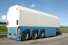 Aanhangwagen van vrachtwagen stock foto's