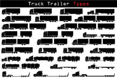 Aanhangwagentypes van de vrachtwagen Stock Fotografie