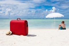 Aankomst bij het strand Royalty-vrije Stock Afbeelding