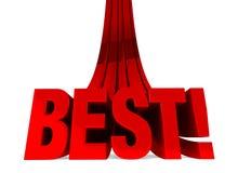 Aankomst van het Beste! Stock Foto