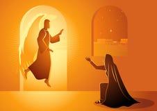Aankondiging aan Heilige Maagdelijke Mary royalty-vrije illustratie