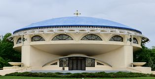 Aankondigings Griekse Orthodoxe Kerk royalty-vrije stock foto's
