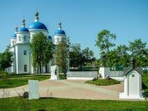 Aankondigingskathedraal in de Russische stad van het gebied van Meshchovsk Kaluga Stock Foto