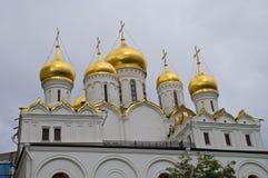 Aankondigingskathedraal in Moskou het Kremlin Royalty-vrije Stock Afbeeldingen