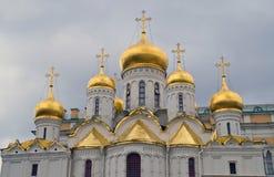 Aankondigingskathedraal in Moskou het Kremlin Royalty-vrije Stock Foto
