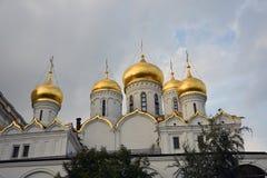 Aankondigingskerk van Moskou het Kremlin De Plaats van de Erfenis van de Wereld van Unesco stock foto