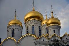 Aankondigingskerk van Moskou het Kremlin De Plaats van de Erfenis van de Wereld van Unesco royalty-vrije stock afbeelding