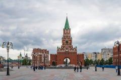 Aankondigingstoren De Republiek van Mari El, Yoshkar-Ola, Rusland 05/21/2016 De Republiek van Mari El, Yoshkar-Ola, Rusland 05/21 Royalty-vrije Stock Foto's