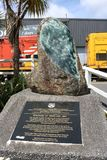 Aankoop van Westland-monument, Greymouth, NZ stock fotografie