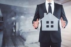 Aanpassing, hotel en hypotheekconcept Stock Foto's