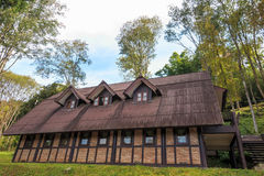 Aanpassing, huis, toevlucht bij Ang Khang-berg Royalty-vrije Stock Foto's