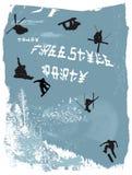 Aanplakbiljet, de winter vrije stijl Royalty-vrije Stock Afbeeldingen