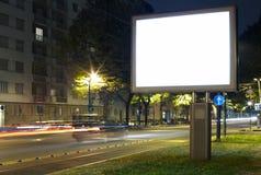 Aanplakbord in de stadsstraat Stock Fotografie