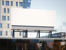 Aanplakbord die zich op een bureaugebouw bevinden het 3d teruggeven Royalty-vrije Stock Afbeelding