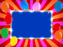 Aanplakbord met ballons Stock Afbeeldingen