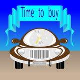 Aanplakbord met een auto Stock Foto