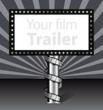 Aanplakbord met filmstrook stock illustratie