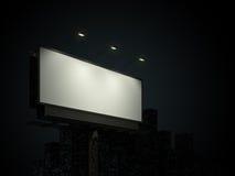 Aanplakbord met stedelijke horizon Stock Afbeelding