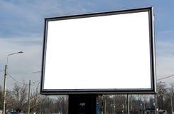 Aanplakbord met witte ruimte voor straten reclame Stock Afbeeldingen