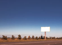 Aanplakbord op de weg Royalty-vrije Stock Foto