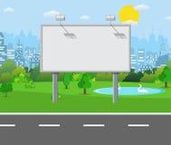Aanplakbord op de weg vector illustratie