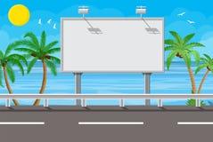 Aanplakbord op de weg royalty-vrije illustratie