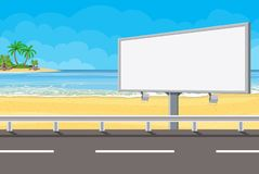 Aanplakbord op de weg stock illustratie