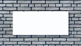 Aanplakbord op een bakstenen muur Stock Foto's