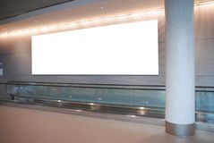 Aanplakbord op moderne architectuur Royalty-vrije Stock Fotografie