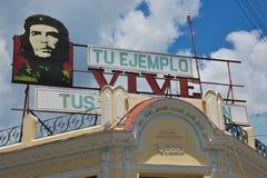 Aanplakbord van Cubaanse Held Stock Afbeelding