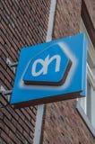 Aanplakbord van de Supermarkt AH bij Weesp-Nederland 2018 Stock Afbeeldingen