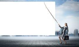 Aanplakbord voor uw tekst Stock Foto