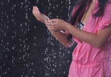 Aanraking van regen Stock Fotografie