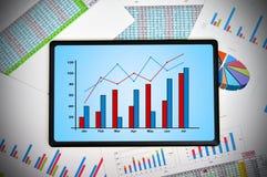 Aanrakingsstootkussen met grafiek Stock Afbeeldingen