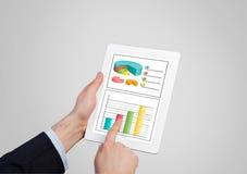 Aanrakingsstootkussen met grafiek Stock Afbeelding