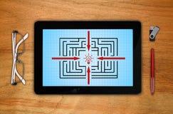 Aanrakingsstootkussen met labyrint Stock Afbeelding