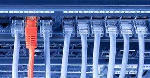Aansluting aan Internet stock afbeelding