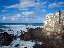 Aanstaande getijde in Puerto de la Cruz Stock Fotografie
