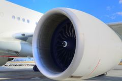 Aanstaande vakantie, vliegtuig die op passagiers wachten royalty-vrije stock fotografie