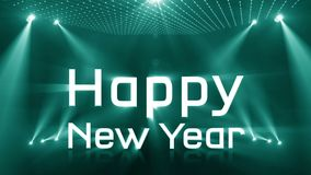 Aanstekend gelukkig nieuw jaar 2018 turkoois stock video