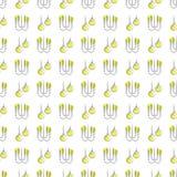 Aanstekend naadloos patroon - naadloze textuur met lampen royalty-vrije illustratie